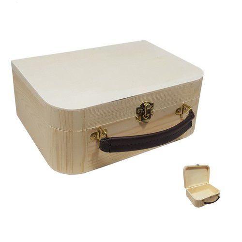 Houten koffertje 23 xcm 16,9 xcm H9CM
