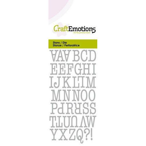 CraftEmotions Die - alfabet typewriter hoofdletters Card 5x10cm (04-20)