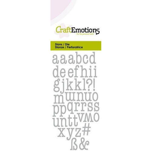 CraftEmotions Die - alfabet typewriter kleine letters Card 5x10cm (04-20)
