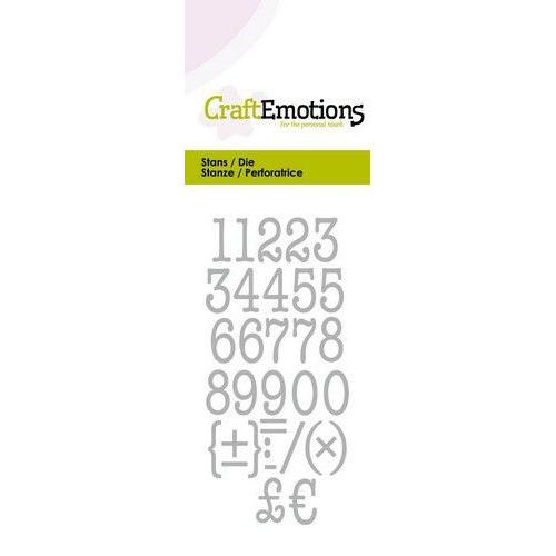CraftEmotions Die - typewriter cijfers Card 5x10cm (04-20)