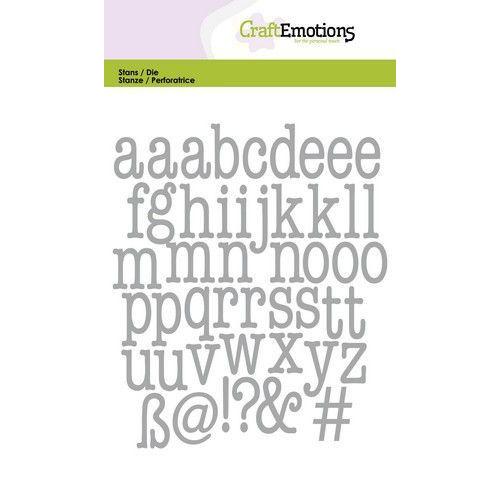 CraftEmotions Die - alfabet typewriter kleine letters Card 10,5x14,8cm (04-20)