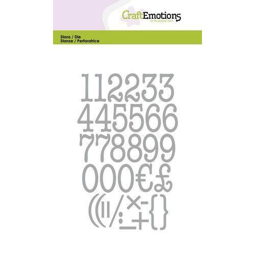 CraftEmotions Die - typewriter cijfers Card 10,5x14,8cm (04-20)