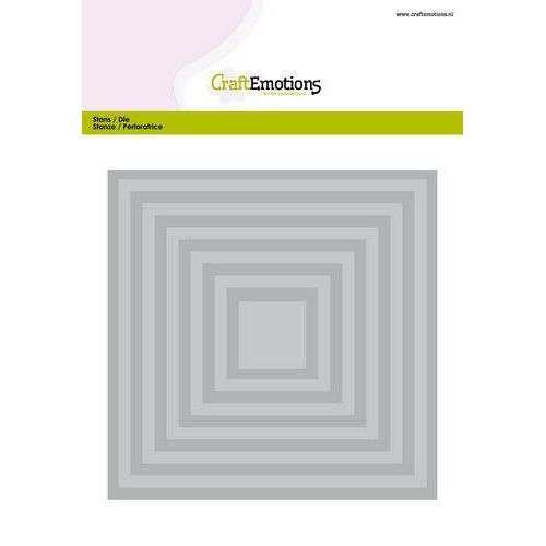 CraftEmotions Big Nesting Die - vierkanten Card 150x160 - 6,6-15,0cm (04-20)