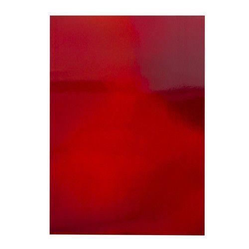 Tonic Studios  spiegelkarton-Irridescent-Fire Stone Red 5 vl A4 9770E (02-20)