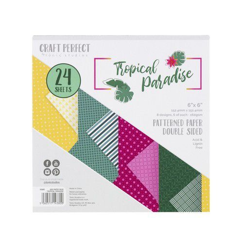 Tonic Studios  Craft P. 6x6 Paper Tropical Paradise Patterned 24 vl 9380E (02-20)