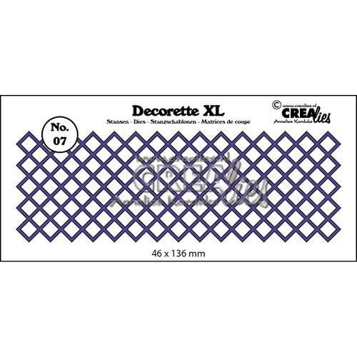 Crealies Decorette XL no. 07 vierkant diagonal 46x136 mm / CLDRXL07