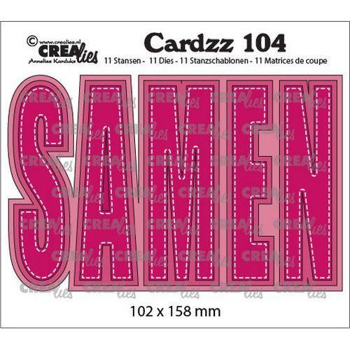 Crealies Cardzz no 104 SAMEN (NL) CLCZ104  102x158mm (02-20)