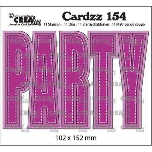 Crealies Cardzz no 154 PARTY (ENG) CLCZ154  102x152mm (02-20)