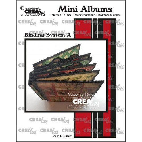 Crealies stans Mini Albums  Bindsysteem A CLMA01  59x165mm (02-20)