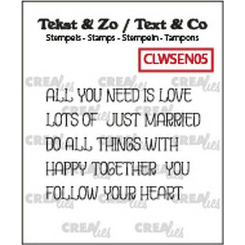 Crealies Clearstamp Tekst & Zo woordstrips LOVE (Eng) CLWSEN05  5x 4x43mm (02-20)