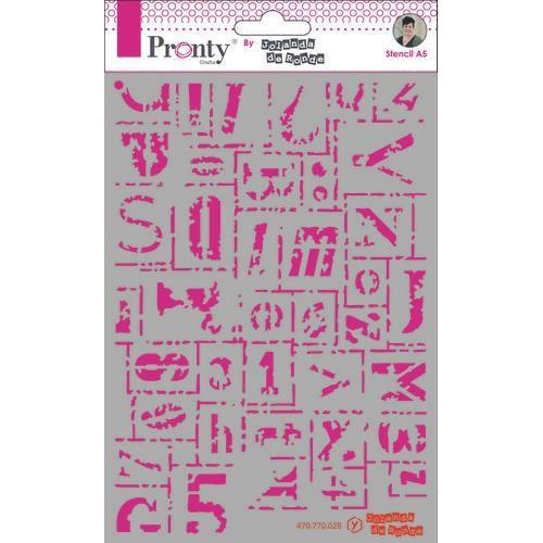 Pronty Mask Background Letters Grunge A5 470.770.028 by Jolanda (02-20)
