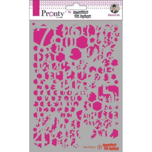 Pronty Mask Background Honey Comb Grunge A5 470.770.031 by Jolanda (02-20)