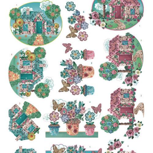 3D cutting sheet -Yvonne Creations - Kitschy Lala -KitschyGarden