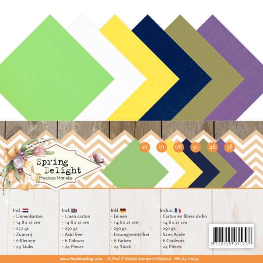 Linnen Carton Package - A5 - Precious Marieke - Spring Delight