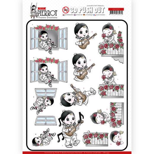 3D Pushout - Yvonne Creations - Petit Pierrot - Serenade
