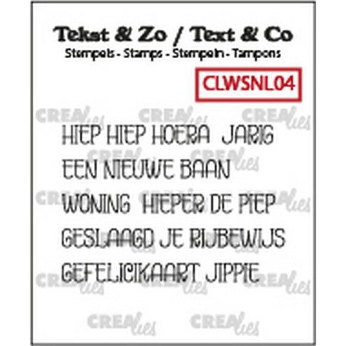 Crealies Clearstamp Tekst & Zo woordstrips Hoera (NL) CLWSNL04  5x 4x43mm (02-20)