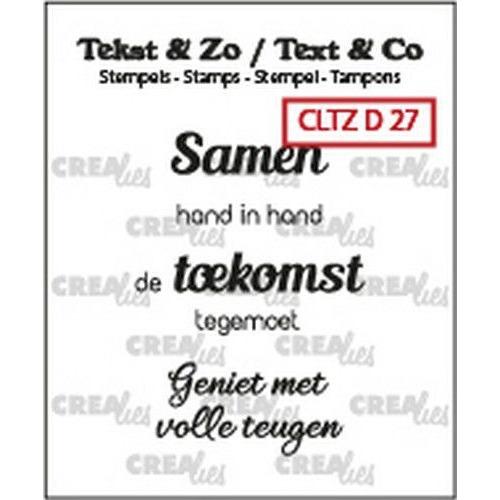 Crealies Clearstamp Tekst & Zo 3x Samen (NL) CLTZD27 3x 30mm (02-20)