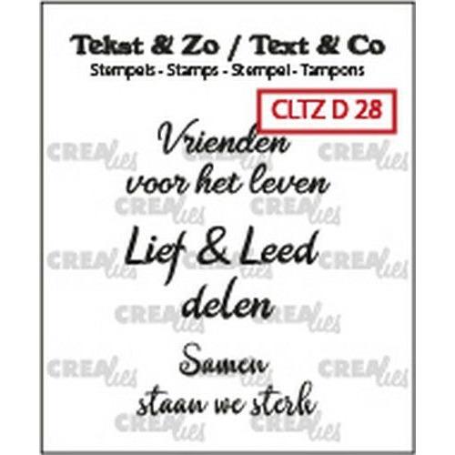 Crealies Clearstamp Tekst & Zo 3x Vrienden (NL) CLTZD28 3x 30mm (02-20)