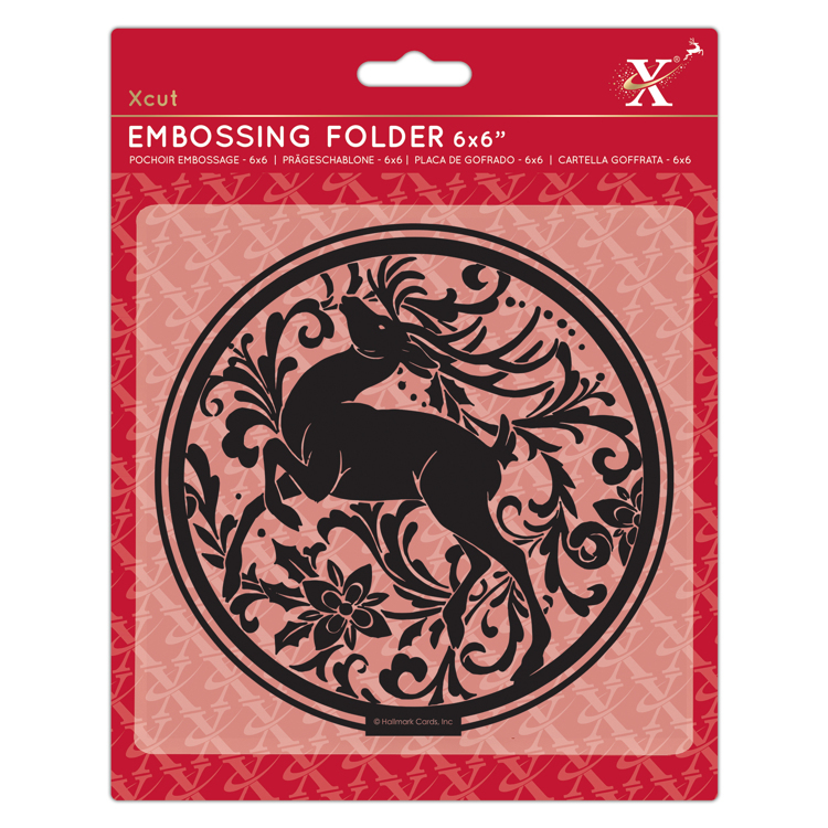"6x6"" Embossing Folder - Arts & Craft Stag"