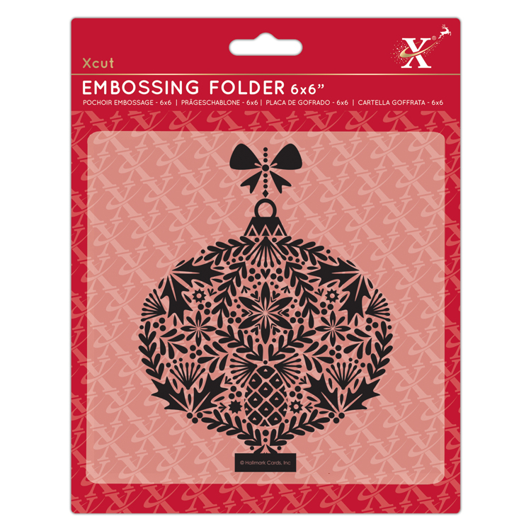 "6x6"" Embossing Folder - Foliage Bauble"
