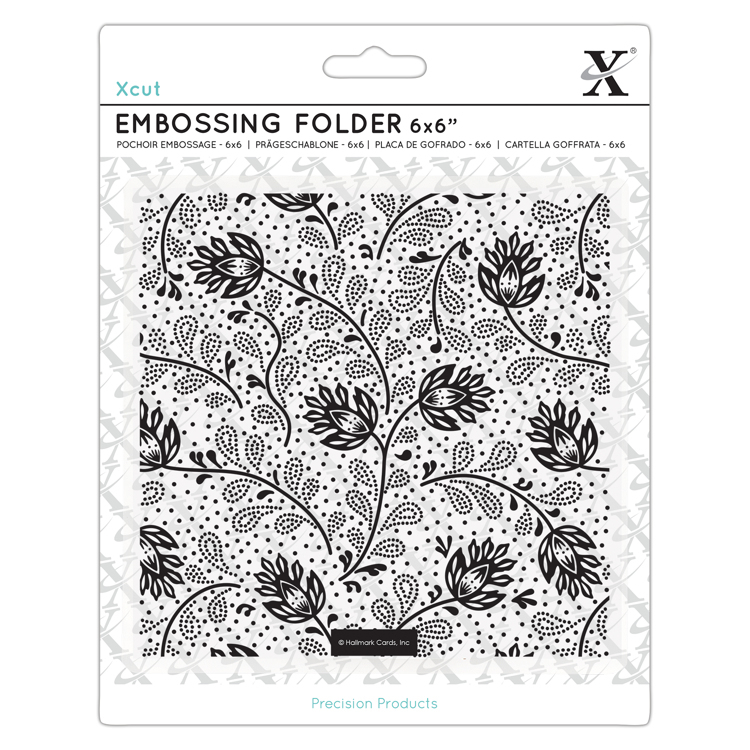 "6x6"" Embossing Folder - Abstract Thistles"