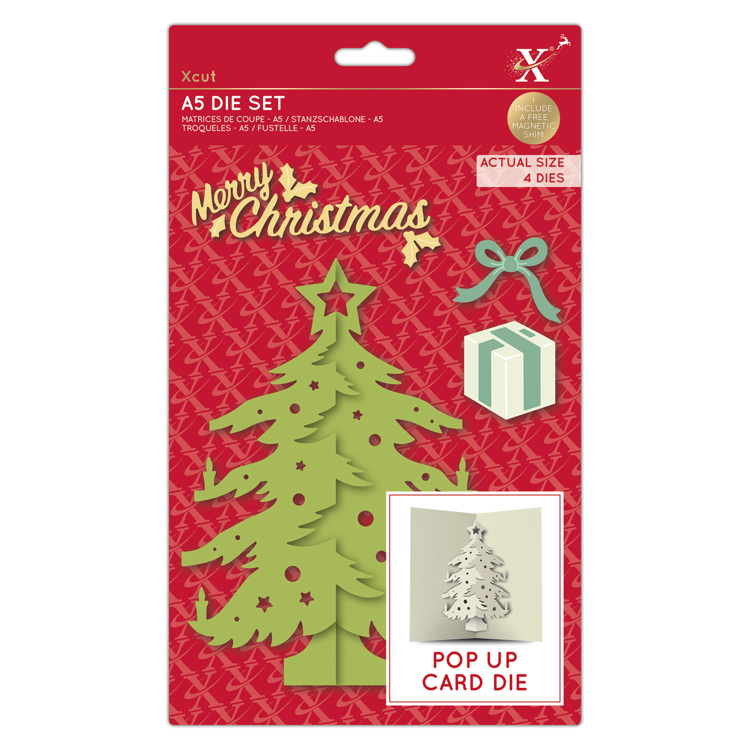 A5 Dies - Pop Up Card - Christmas Tree