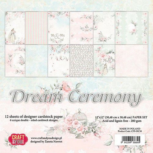 Craft&You Dream Ceremony BIG Paper Set 12x12 12 vel CPS-DC30 (02-20)