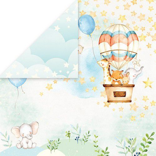Craft&You Baby Adventure Scrapbooking single paper 12x12 CP-BA01 (02-20)