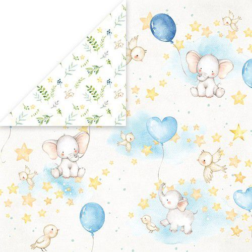 Craft&You Baby Adventure Scrapbooking single paper 12x12 CP-BA02 (02-20)