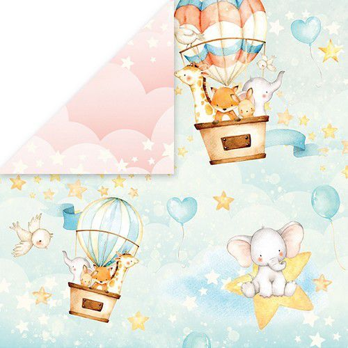 Craft&You Baby Adventure Scrapbooking single paper 12x12 CP-BA03 (02-20)