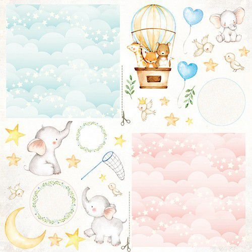 Craft&You Baby Adventure Sheet of elements to be cut out 12X12 CP-BA09 (02-20)