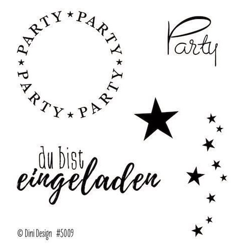 Dini Design Clearstamps   Party (DE) #5009 (02-20)
