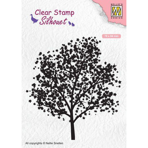 Nellies Choice Clearstempel - Silhouette boom SIL063 78x84mm (02-20)
