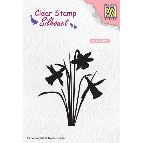 Nellies Choice Clearstempel - Silhouette narcis SIL064 53x59mm (02-20)