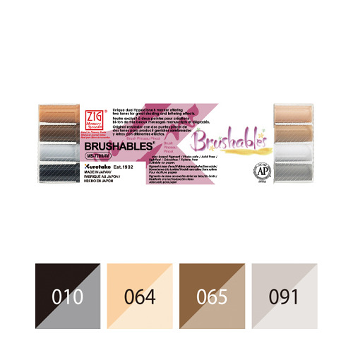 Zig Brushables Brown 4 colors set
