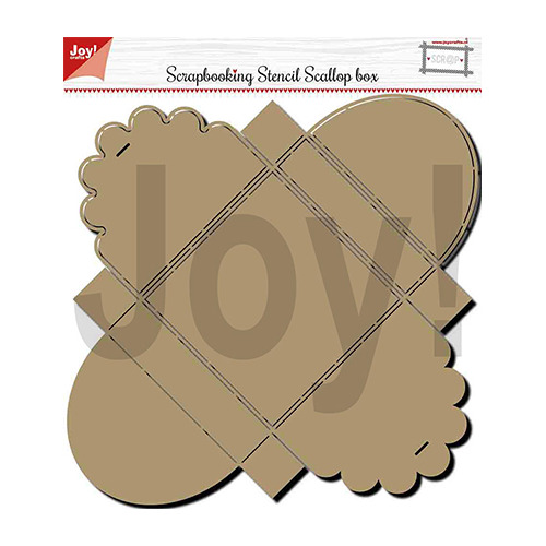 Polybesa - scrap box stencil -Scallop box