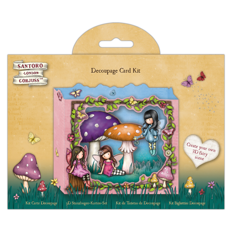Decoupage Card Kit - Santoro - Faerie Folk