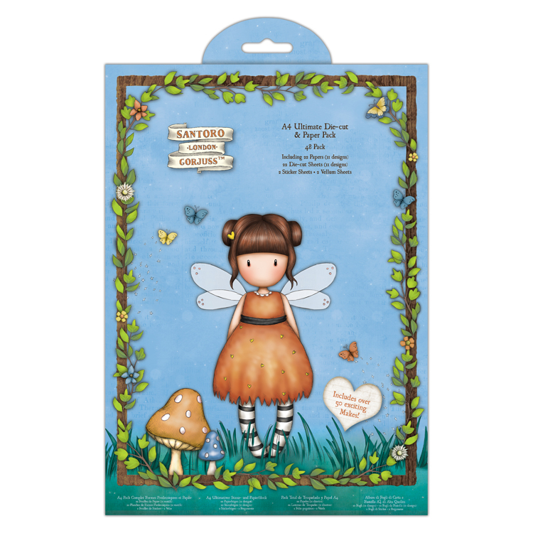 A4 Ultimate Die-Cut & Paper Pack (48pk) - Santoro - Faerie Folk