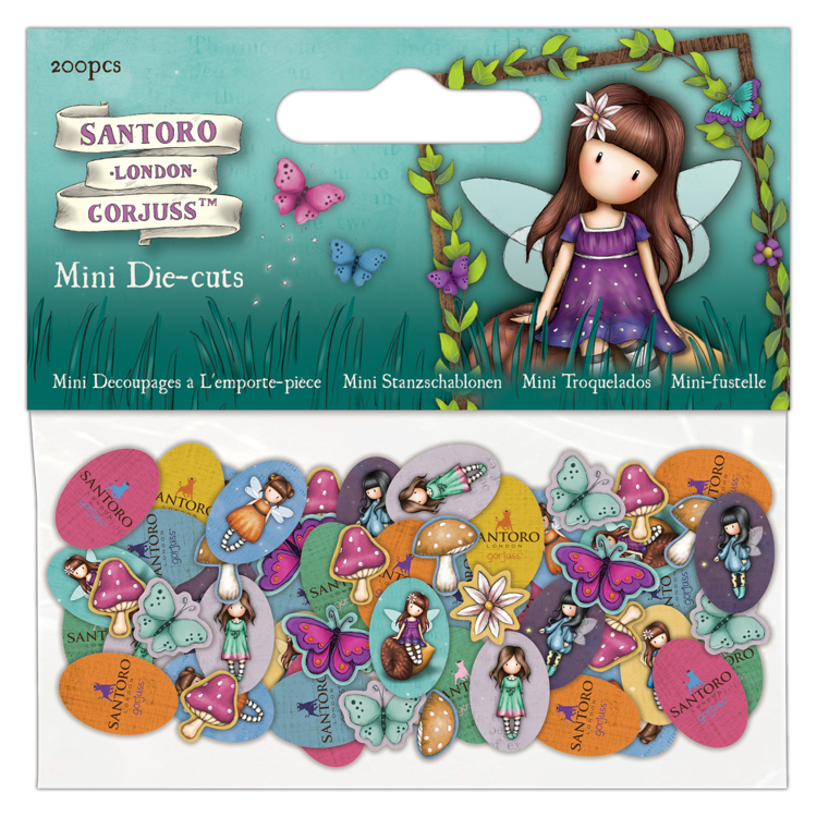Mini Die-Cuts (200pcs) - Santoro - Faerie Folk