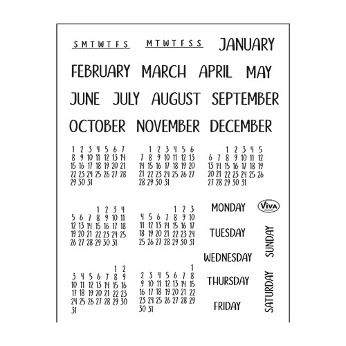 Bujo/Kalender Monate & Tage