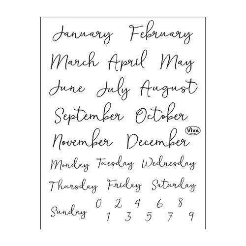 Bujo/Kalender Monate