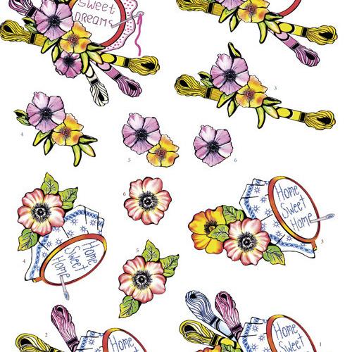 3Dcutting sheet -Yvon's Art - Stitching