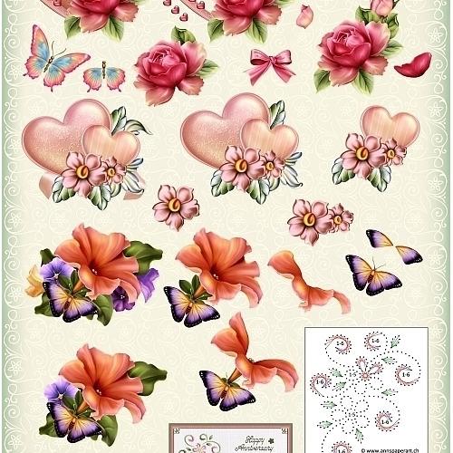 3D cutting sheet - Ann's Paper Art -Art and Love and Romance