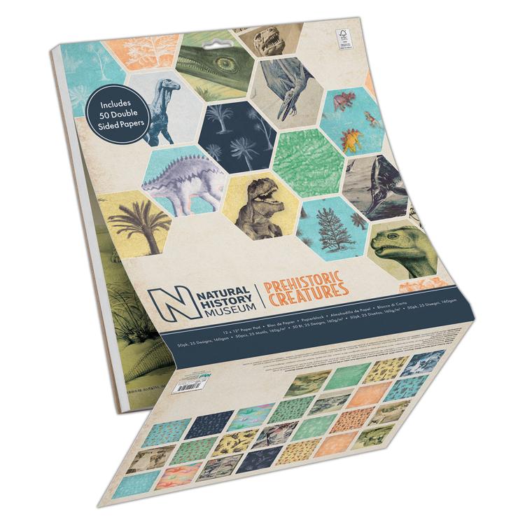 "12 x 12"" Paper Pad (50pk) - Prehistoric Creatures"