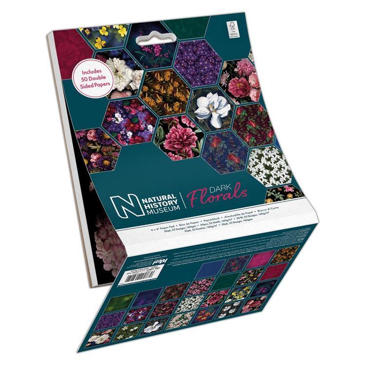 "6 x 6"" Paper Pad (50pk) - Dark Florals"