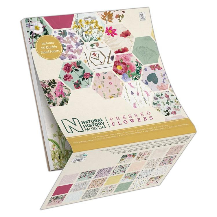 "12 x 12"" Paper Pad (50pk) - Pressed Flowers"