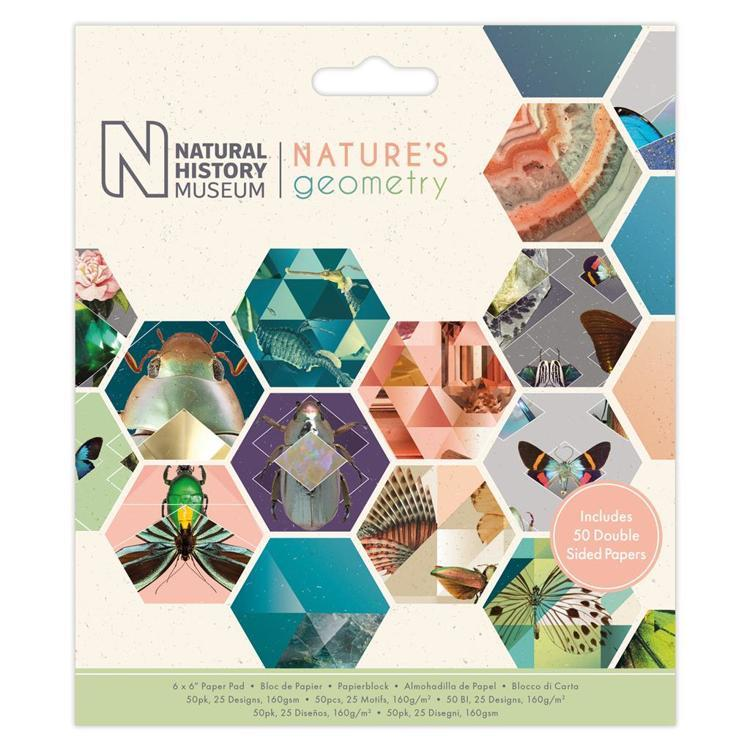 "6 x 6"" Paper Pad (50pk) - Nature's Geometry"