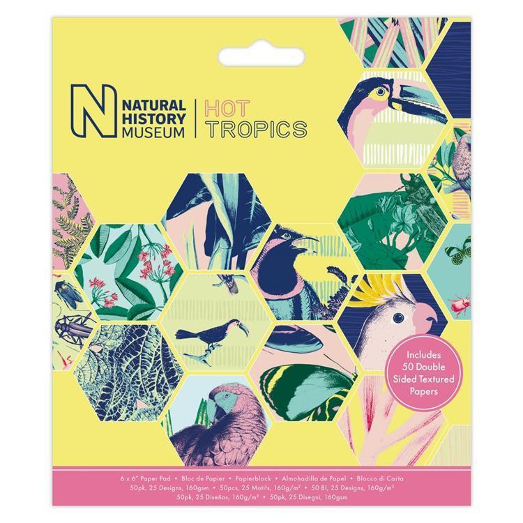 """6 x 6"""" Paper Pad (50pk) - Hot Tropics"""