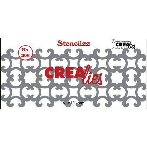 Crealies Stencilzz no. 206 ornamentjes CLST206 61 x 151mm (03-20)
