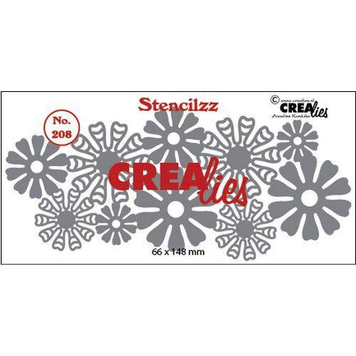 Crealies Stencilzz no. 208 bloemetjes CLST208 66 x 148mm (03-20)